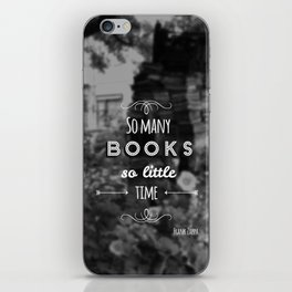 So many books, so little time iPhone Skin