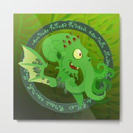 Silly Bestiary : Chtulhu Metal Print
