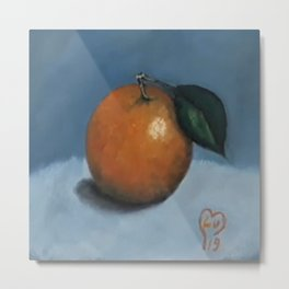 Orange, oil painting by Luna Smith, LuArt Gallery, fruits Metal Print