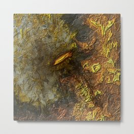 Bound in Fire Metal Print