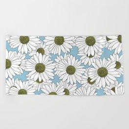 Daisy Blue Beach Towel