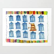 Doctor Whoodle Art Print