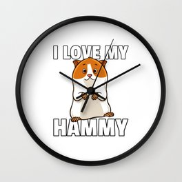 Hamster Pet Rodent Funny Role Wall Clock