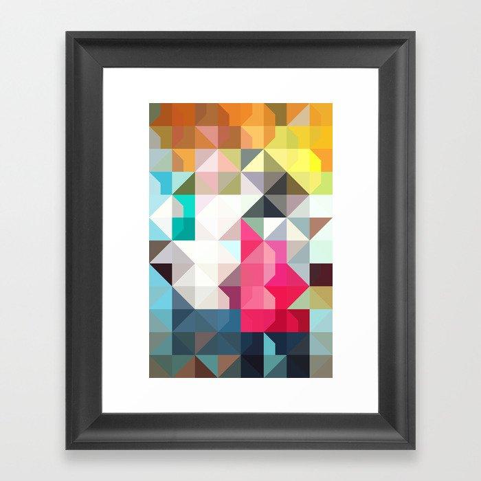 color story - pixelated warfare Framed Art Print