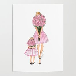 Mother's Day little girl red head Poster