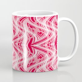 Glitchy Peppermint Holiday Pattern Coffee Mug