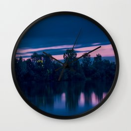 Dredging lake in Baden-Wurttemberg Wall Clock