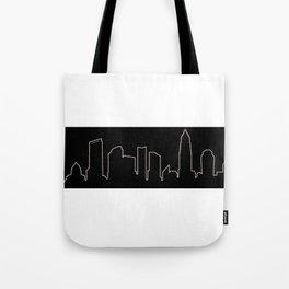 Charlotte, NC Skyline Tote Bag