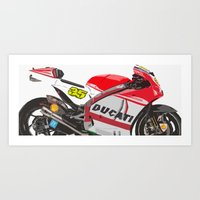 ducati Art Prints featuring Ducati GP15 by Larsson Stevensem