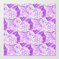 Purple Passion Plume Canvas Print