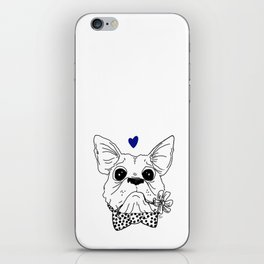 Dapper Frenchie iPhone Skin