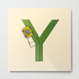Y is for Yard Metal Print