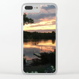 Lake Life - July Sunset Clear iPhone Case