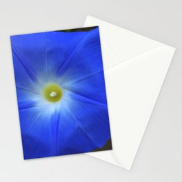 Blue, Heavenly Blue morning glory Stationery Cards