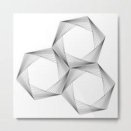 crazy hexagons Metal Print