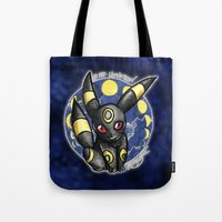 umbreon Tote Bags featuring 197 - Umbreon by Lyxy
