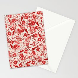Bloody Halloween Hands Stationery Cards