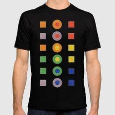 Chevreul Laws of Contrast of Colour, Plate VI, 1860, Remake, vintage wash Black MEDIUM Mens Fitted Tee