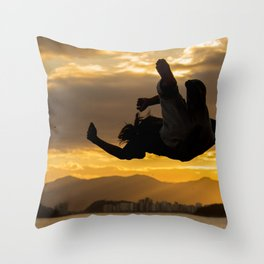 Slack line 2 Throw Pillow