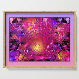 PEONY IN JUNE ABSTRACT Serving Tray