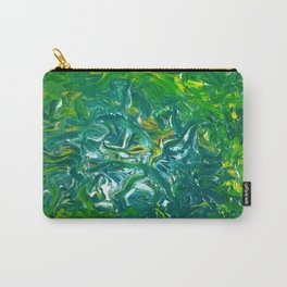 Green Abstract Carry-All Pouch