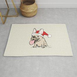 French Bulldog Santa Clause | Funny Christmas Frenchie Rug