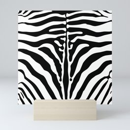 Zebra print Mini Art Print