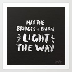 Burned Bridges – Black & White Art Print