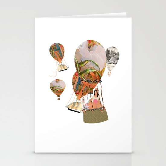 Hot Air Balloon Dream Stationery Cards