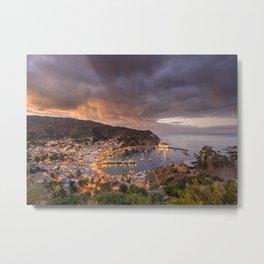Harbor at Avalon on Catalina Island at Sunset Metal Print