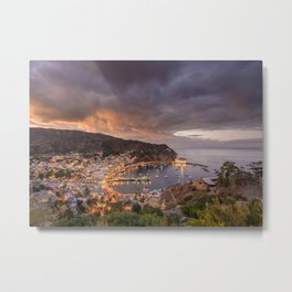 Harbor at Avalon on Catalina Island at Sunset Metal Print