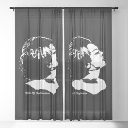 MAKE THIS OCTOBER AND HALLOWEEN A SCREAM WITH THE MONSTERS BRIDE Sheer Curtain
