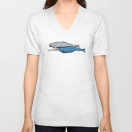 Narwhal And Beluga Whales Unisex V-Neck