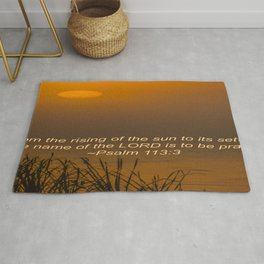 Psalm 113:3 Sunrise Rug