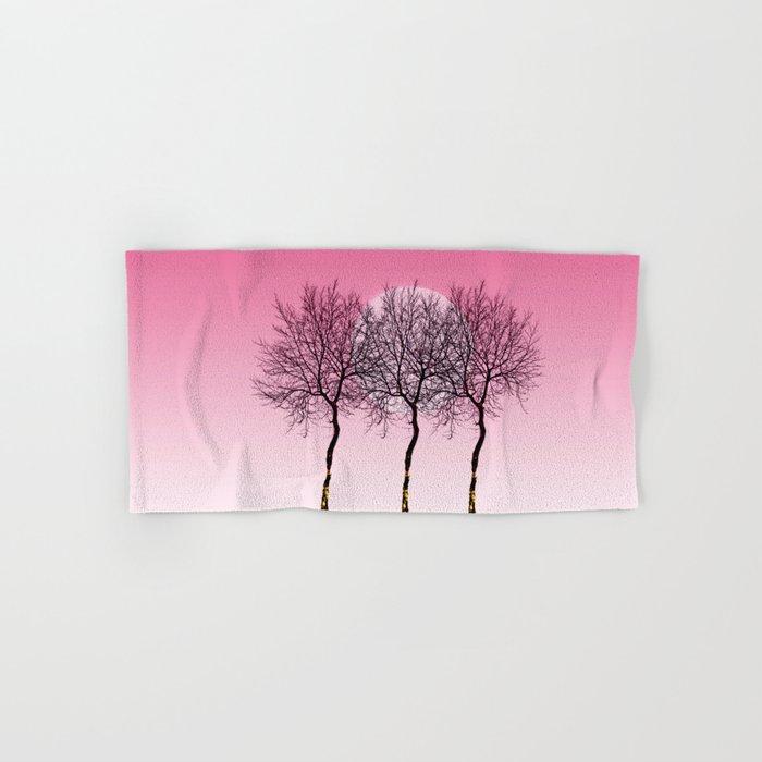 Triplet trees in pink Hand & Bath Towel