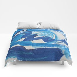 A Study in Blue, No. 1 Comforters