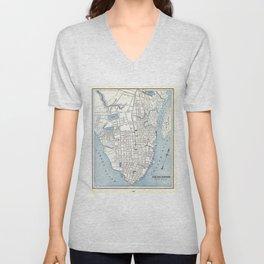 Vintage Map of Charleston South Carolina (1898) Unisex V-Neck