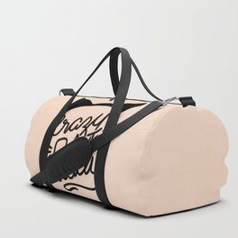Crazy Cat Lady Calligraphy Lettering with Cat Ears & Whiskers on Pink Duffle Bag