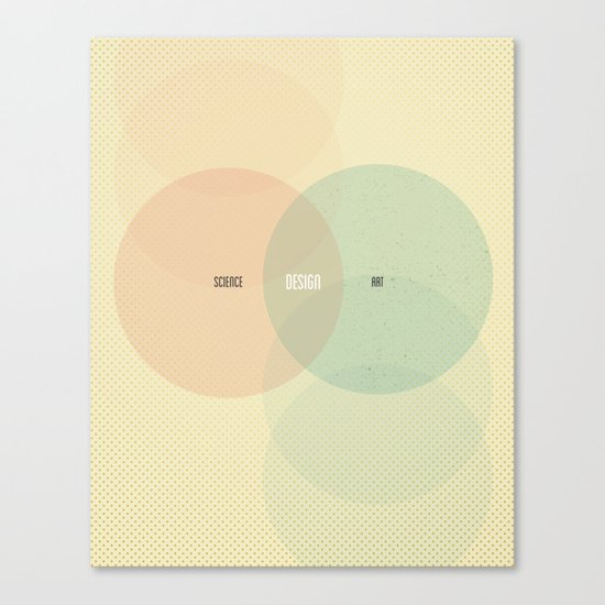 Design is Where Science and Art Break Even Canvas Print