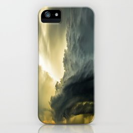 Supercell - Massive Storm Over the Great Plains iPhone Case
