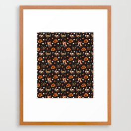 Halloween Pattern Framed Art Print
