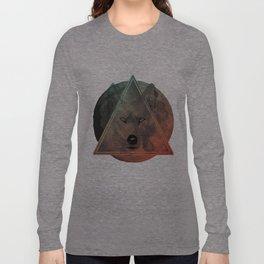 Wolf Galaxy (Green) Long Sleeve T-shirt