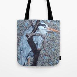 Grey Heron (Ardea Cinerea) Colored Pecncils Artwork Tote Bag