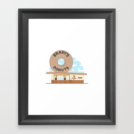 Brady's Donuts Framed Art Print