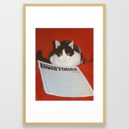 My Busy Schedule Framed Art Print