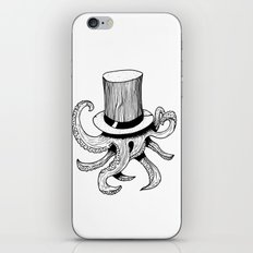Squid is lost in hat iPhone & iPod Skin