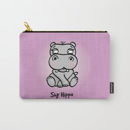 Shy Hippo Carry-All Pouch