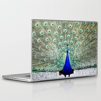 peacock Laptop & iPad Skins featuring Peacock by Whimsy Romance & Fun