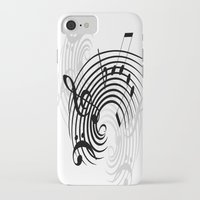 music notes iPhone & iPod Cases featuring Music Notes by Svetlana Sewell