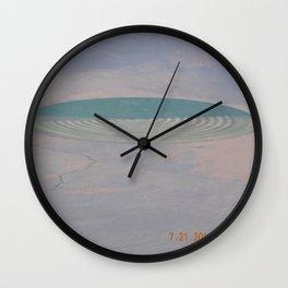 road trip, crop circle, landscape, farming, DUII Alien field art Wall Clock